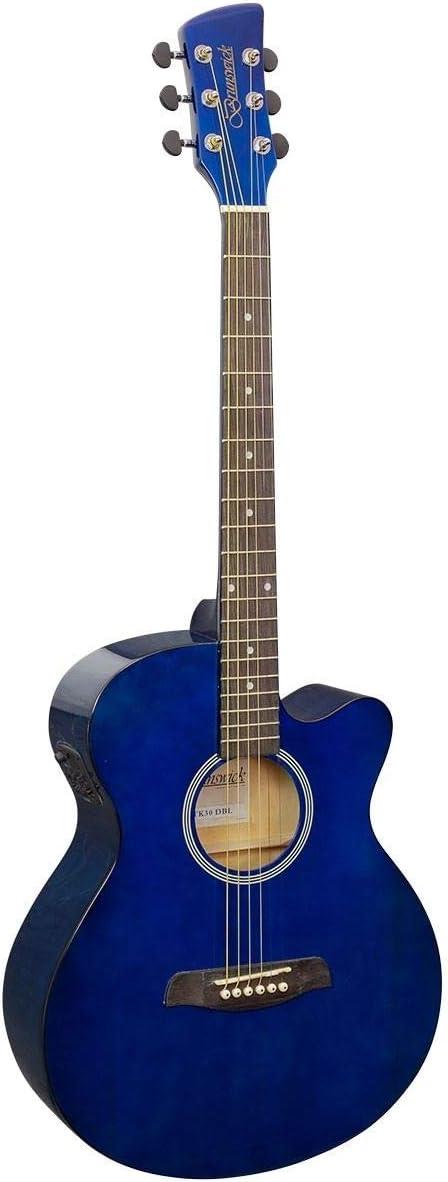 Brunswick Slimline Auditorium Guitarra Electroacústica–btk30, azul oscuro