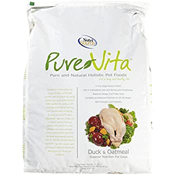 TUFFY'S PET FOOD 131634 Tuffy Pure Vita Duck and Oatmeal for Dogs, 25-Pound