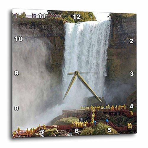3dRose dpp_76091_2 Canada, Ontario, Niagara Falls. Walking The Falls -Cn08 Lse0002-Lynn Seldon-Wall Clock, 13 by - Falls Niagara Ontario Outlet