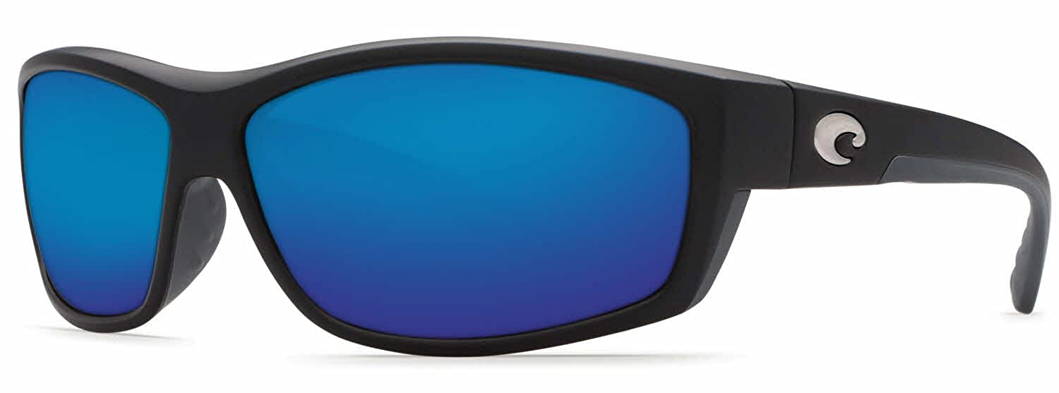 9b67bf0f8000 Amazon.com: Costa Del Mar Saltbreak 580G Polarized Sunglasses in Black &  Blue Mirror Lens: Clothing