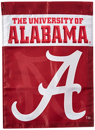 NCAA Alabama Crimson Tide 2-Sided Garden - Crimson Baseball Bama Alabama Tide