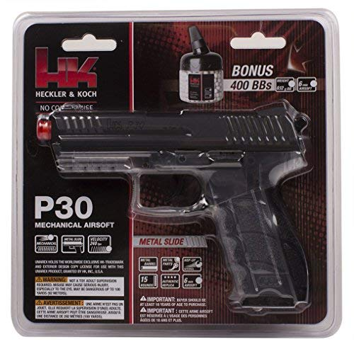 HK P30 6mm Airsoft Clear with Metal Slite by Elite Force