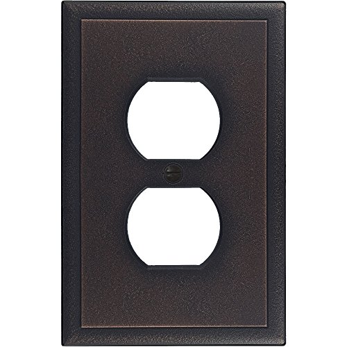 Questech Ambient Cast Metal Switch Plate/Wall Plate Cover – Made in the USA (Single Duplex, Oil Rubbed Bronze)