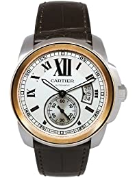 Calibre De Cartier Silver Dial Mechanical Wind Mens Watch W7100039