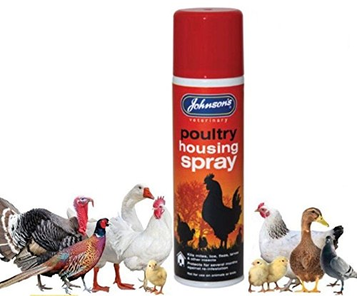 John-sons Poultry Housing Spray 250ml. Kills Mites, Lice, Fleas, Larvae & Insect