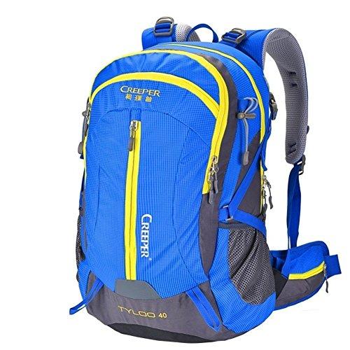 Sincere® Verpackung / Rucksäcke / Mobil / Ultrabergbeutel / wasserdichten Outdoor-Rucksack / Rucksack Wandern / Camping Paket blau 50L