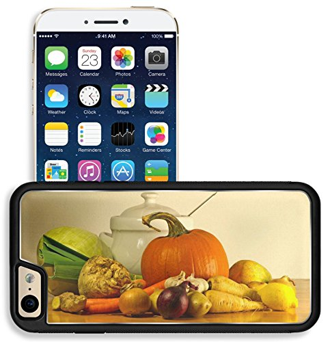 Liili Apple iPhone 6 iPhone 6S Aluminum Backplate Bumper Snap iphone6/6s Case Image ID 23250371 The beauty of fall as a still life with soup vegetables and tureen on wooden ()
