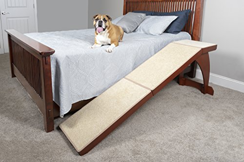 PetSafe Solvit Wood Bedside Dog and Cat Ramp, Wood Pet Ramp for Bed, 70 in. L x 16 in. W x 25 in. H ()