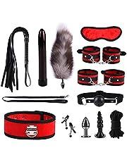 12 Piezas SM Set Plush Set Sexy Toy Suit Nylon Leather SM Kit Set, Herramienta De Actualización De Deseo Sexual Para Sexy Fun Set Special Bundled Binding Novedad Y Juegos Para Pareja Adulto
