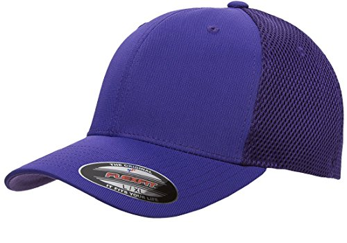 Flex Fit Mesh Visor (Flexfit 6533 Ultrafibre & Airmesh Fitted Cap, Purple - Large/X-Large)