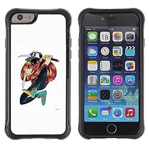 LASTONE PHONE CASE / Suave Silicona Caso Carcasa de Caucho Funda para Apple Iphone 6 PLUS 5.5 / Samurai Cartoon Music Hip Hop Dude