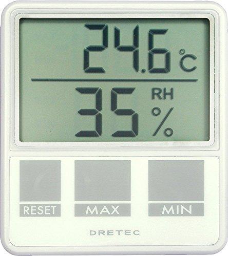 드레텍 dretec 디지탈온 습도계 화이트 O-214WT