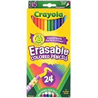 Crayola 24 Ct Erasable Colored Pencils