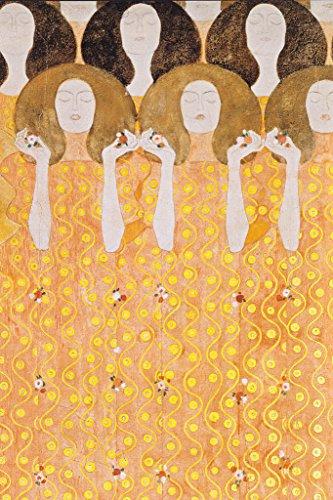 Gustav Klimt Beethoven Frieze Chorus of Paradise Poster 12x18 inch - Beethoven Frieze Klimt
