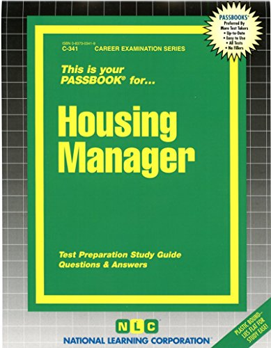 Housing Manager(Passbooks) (Career Examination Series : - Plastic Housing Jack