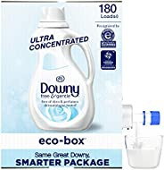 Downy Eco-box Ultra Concentrated Liquid Laundry Fabric Softener (Fabric Conditioner), Free & Gentle, 180 L