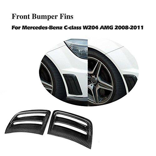 (Jcsportline Carbon Fiber Air Fenders Vents fits Mercedes Benz W204 C63 AMG Bumper 2008-2011)