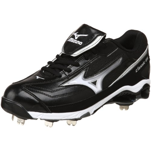 Mizuno Men's 9-Spike Classic G6 Low Switch, Black/White