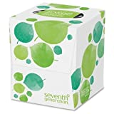 13719 Seventh Generation 100% Recycled Facial Tissues - 2 Ply - 85 Sheets Per Box - 85 / Box - White - Paper