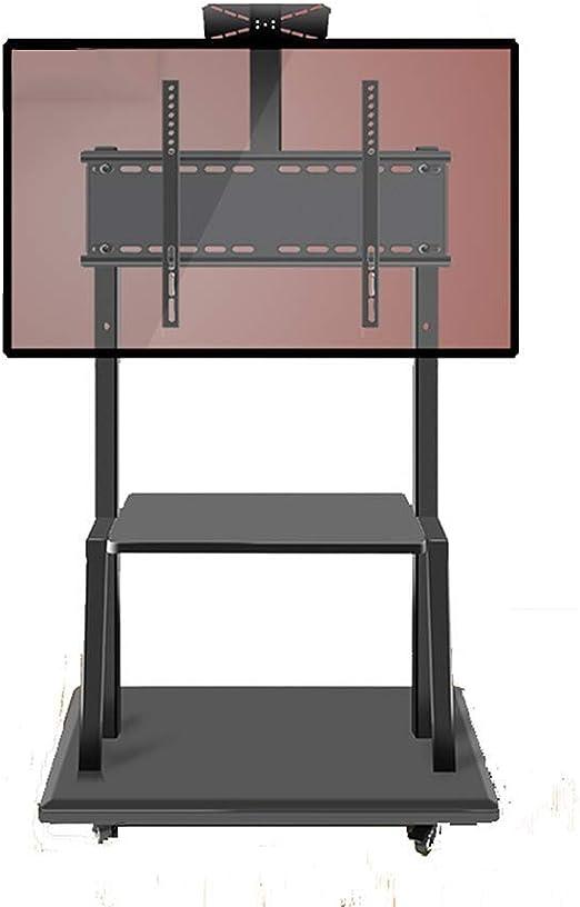 CCDZDM Pantalla De TV Móvil Soporte De Suelo para 32-75 Pulgadas De Altura Ajustable con Ruedas Móvil para Pantalla Plana Pantalla De Plasma LCD Led Dormitorio Salón Exposición: Amazon.es: Hogar