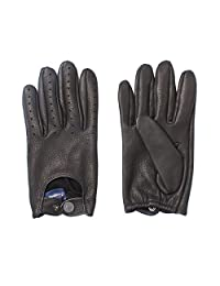 Nappaglo Men's Deerskin Leather Driving Gloves Full Finger Motorcycle Cycling Riding Unlined Gloves (Touchscreen or Non-Touchscreen)
