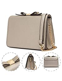 Waterproof Mini Crossbody Purses Wallet Pu Leather Bags with Bowknot for Women Shoulder Handbags
