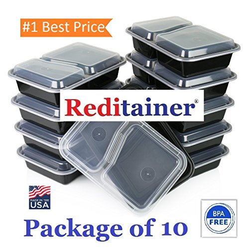 Reditainer - 2 Compartment Microwave Safe Food Container ...