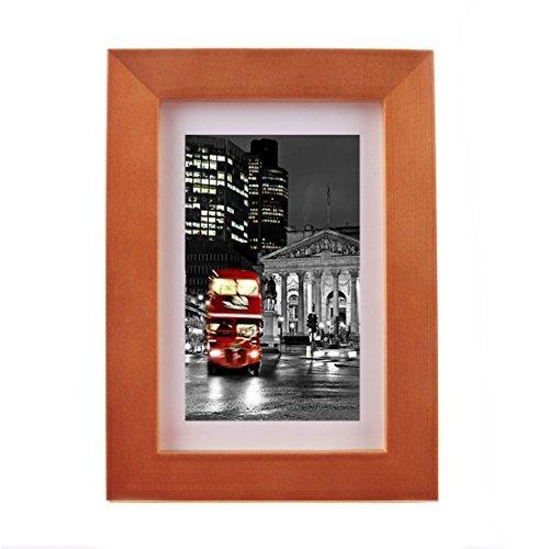 eDealMax 6 x 8 Couleur Caf Cadre Photo, Fait  afficher les Images 4 x 6 avec Mat ou 6 x 8 Sans Tapis, Bois Large Molding