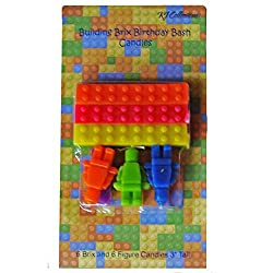 12 Piece Building Brix Birthday Bash Candles