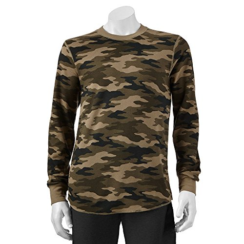 Croft & Barrow Camouflage Long Sleeve Thermal Crew Shirt - Medium ()