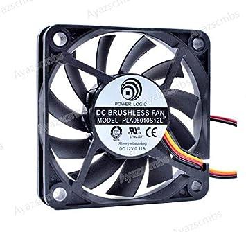 Ayazscmbs Compatible para PLA06010S12L 6cm 6010 60mm Ventilador ...