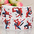 "10 Yards1""25mm fancy spider-man cartton Printed Gift Grosgrain Ribbon"