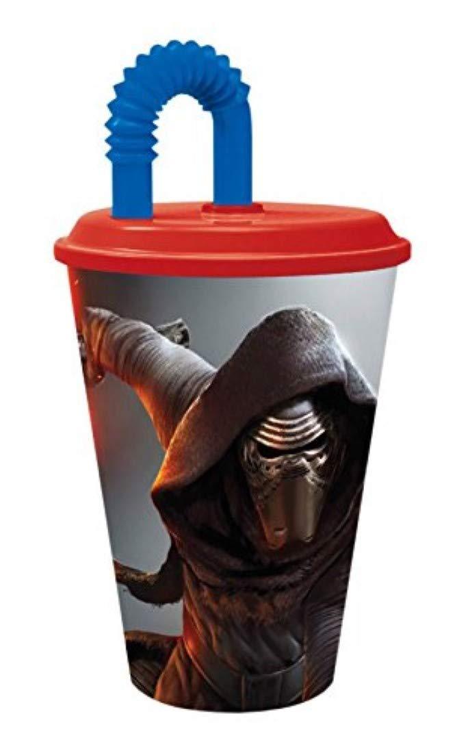 ca p:os 25623 Disney Star Wars Trinkbecher mit Strohhalm 430 ml