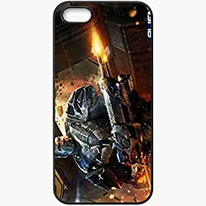 Personalized iPhone 5 5S Cell phone Case/Cover Skin Alien Fear Black
