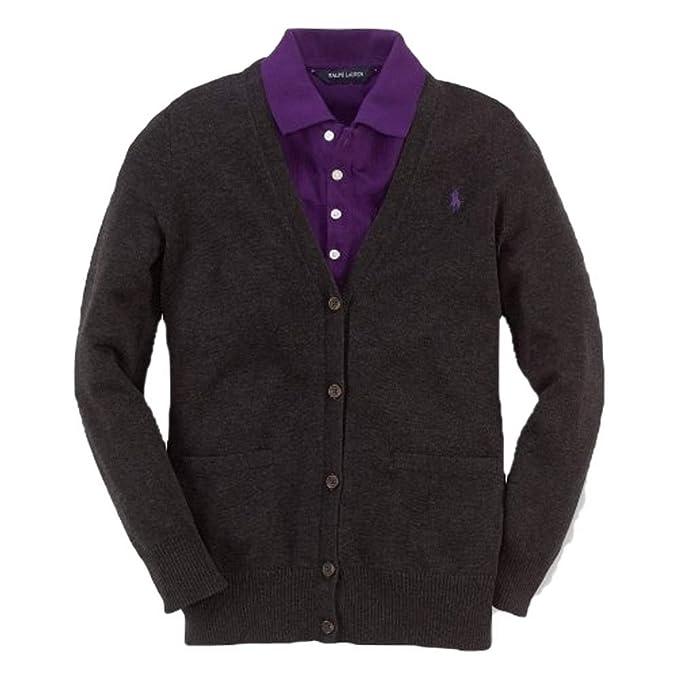 6410b32254e8b Amazon.com: RALPH LAUREN Kids Sweater, Little Girls Boyfriend ...