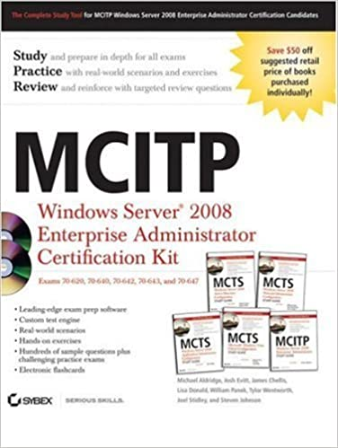 Télécharger des livres électroniques Google MCITP: Windows Server 2008 Enterprise Administrator Certification Kit by Michael Aldridge (2009-02-03) iBook