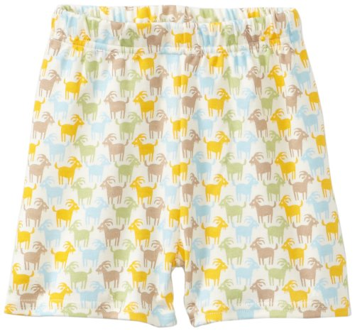 Billy Goat Cotton Shorts - Zutano Unisex-baby Infant Billy Goat Organic Short, Oats, 6 Months