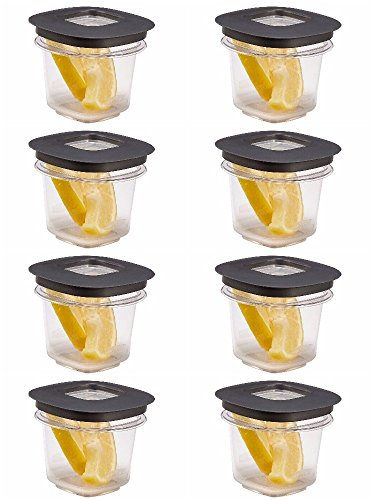 Rubbermaid Premier Food Storage Containers, 0.5 Cup, Grey