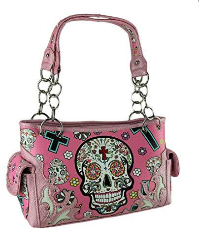 DOD Sugar Skulls & Crosses Colorful Concealed Carry Purse ()