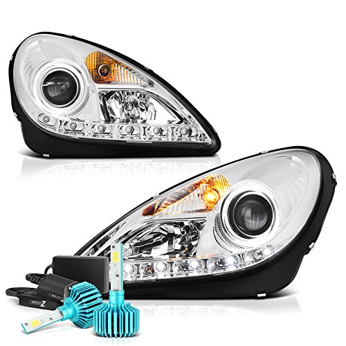 [Built-In Color-Changing RGB Low Beam] - VIPMOTOZ For 2005-2011 Mercedes-Benz R171 SLK-Class LED DRL Headlights, Driver & Passenger Side
