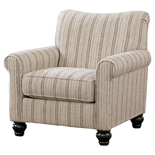 Milari Classic Striped Accent Chair ()