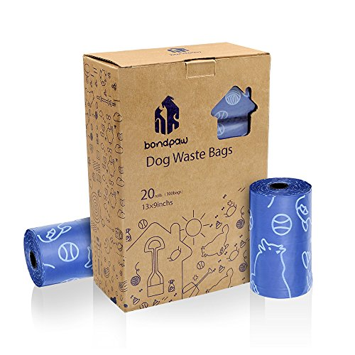 Bondpaw Dog Waste Bags,300 Dog Poop Bags Extral Large and Thick for Pet Cleanup (20 Rolls / 300 Count)