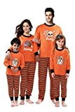 Rnxrbb Halloween Matching Family Pajamas Christmas PJs Set Xmas Sleepwear Cotton Stripe,Men,S