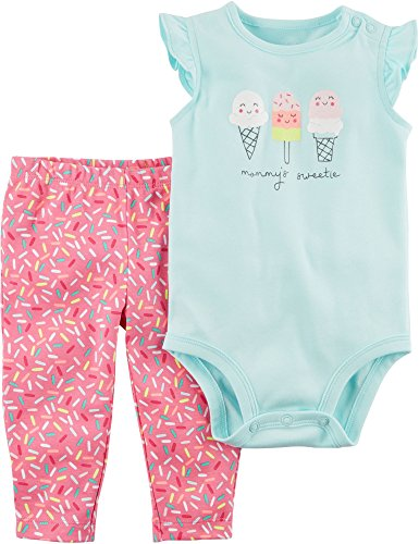 Carter's Baby Girls' 2-Pc Bodysuit and Pants Set 3 Months