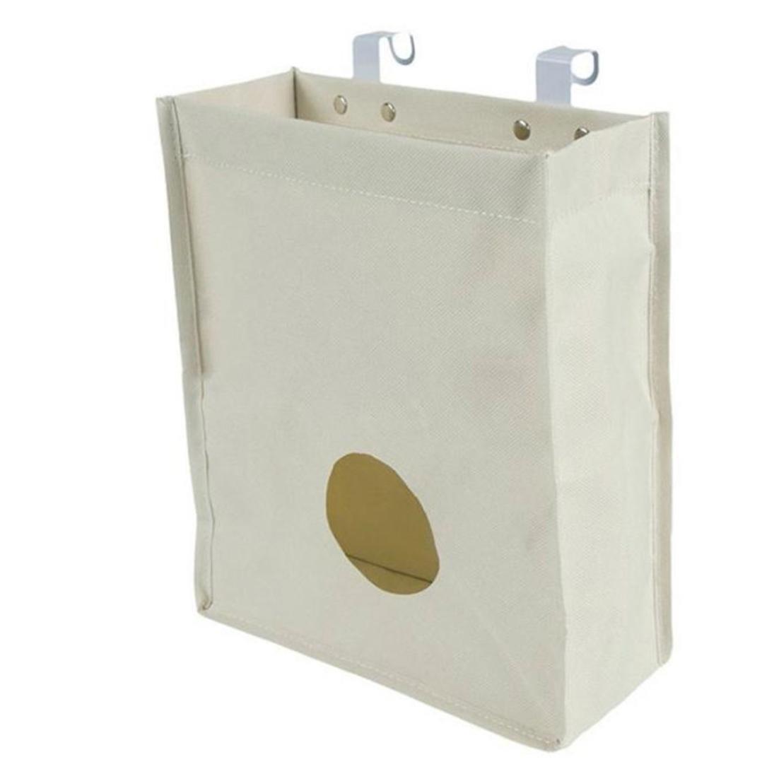 CompiaキッチンCupboard Garbage Hangingストレージバッグホーム浴室ホルダーオーガナイザー B0771FTJYZ ホワイト