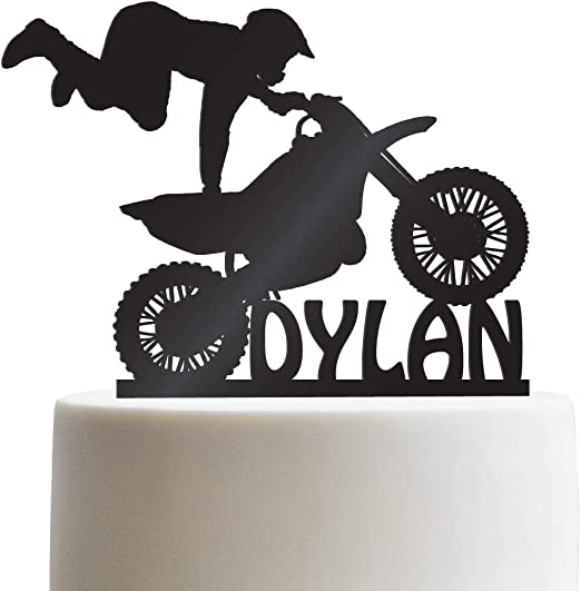 Super Amazon Com Motocross Customized Birthday Cake Topper Dirt Bike Funny Birthday Cards Online Overcheapnameinfo