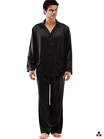 f69a7eafa8 ElleSilk Men s Mulberry Silk Sleepwear