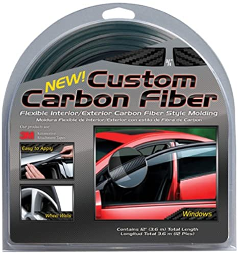 amazon com custom carbon fiber exterior molding 3 4 wide automotive