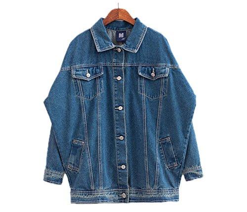 Hot AvaCostume Women's Vintage Batwing Sleeve Boyfriends Denim Jacket Coat for sale