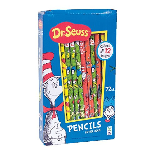 Dr. Seuss Pencil Too, 72 Pack